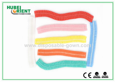19 Inch Colored Disposable Head Cap For Hospital Operating Theater