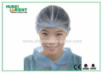 "OEM Polypropylene Disposable Head Cap Single / Double Elastic 19"" 20"""