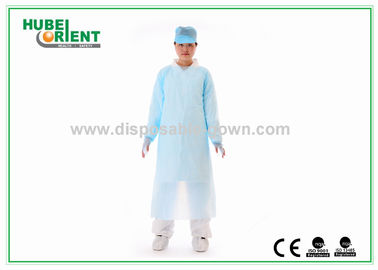 Safety CPE Disposable Protective Gowns Breathable Oil Resistant