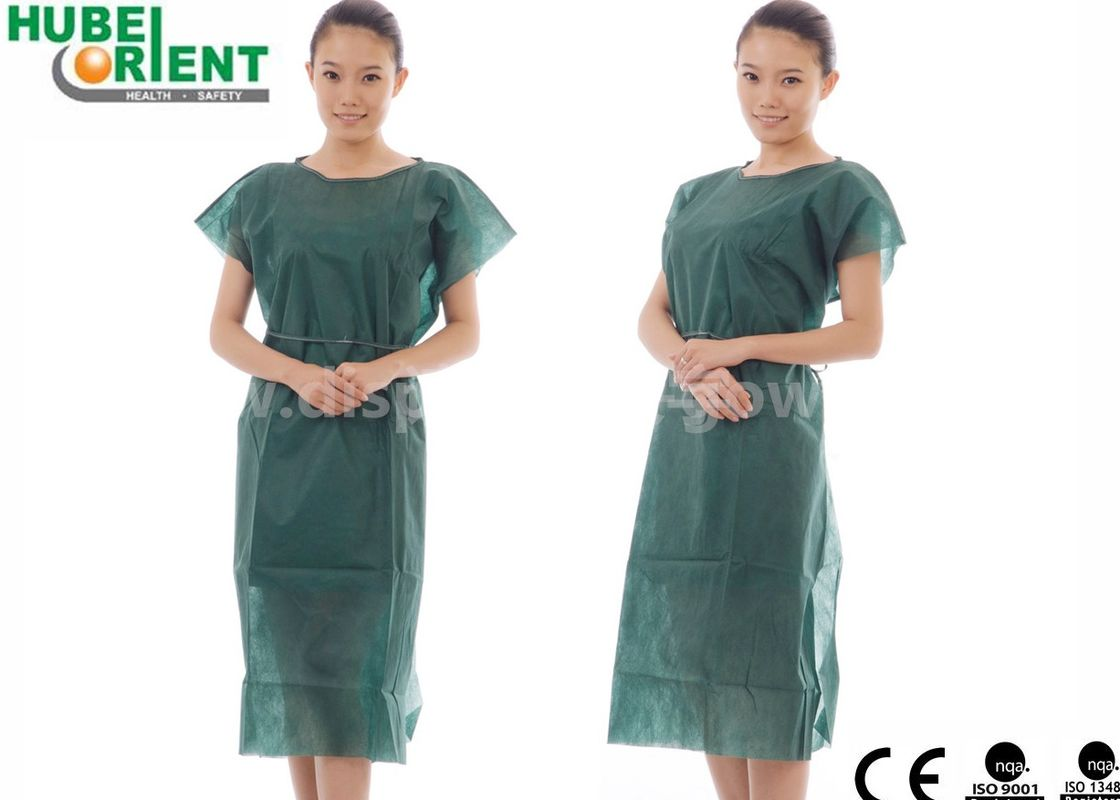 Sleeveless 40gsm Non Woven Patient Gown For Operation Room